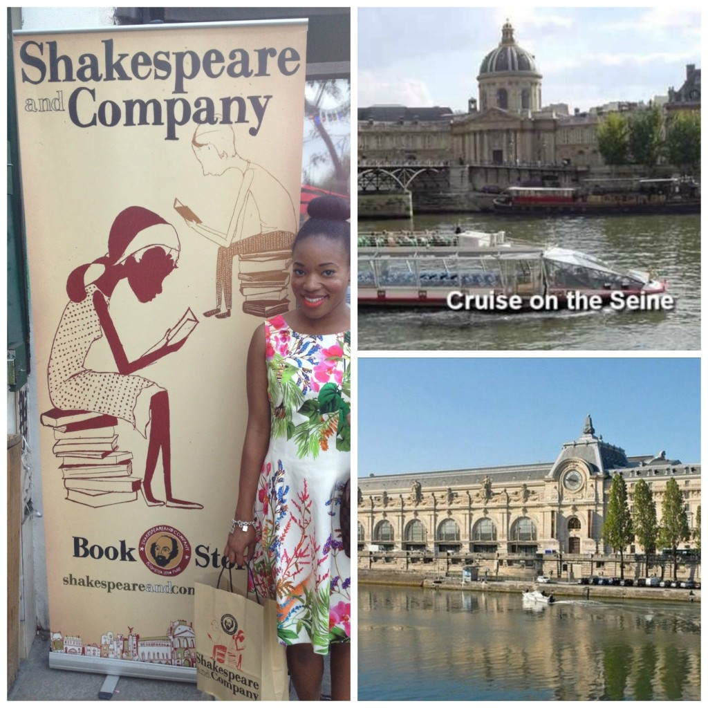 Shakespeare and Company Bookstore, We took River Cruise on Seine, and Musée d' Orsay ( Old train station)