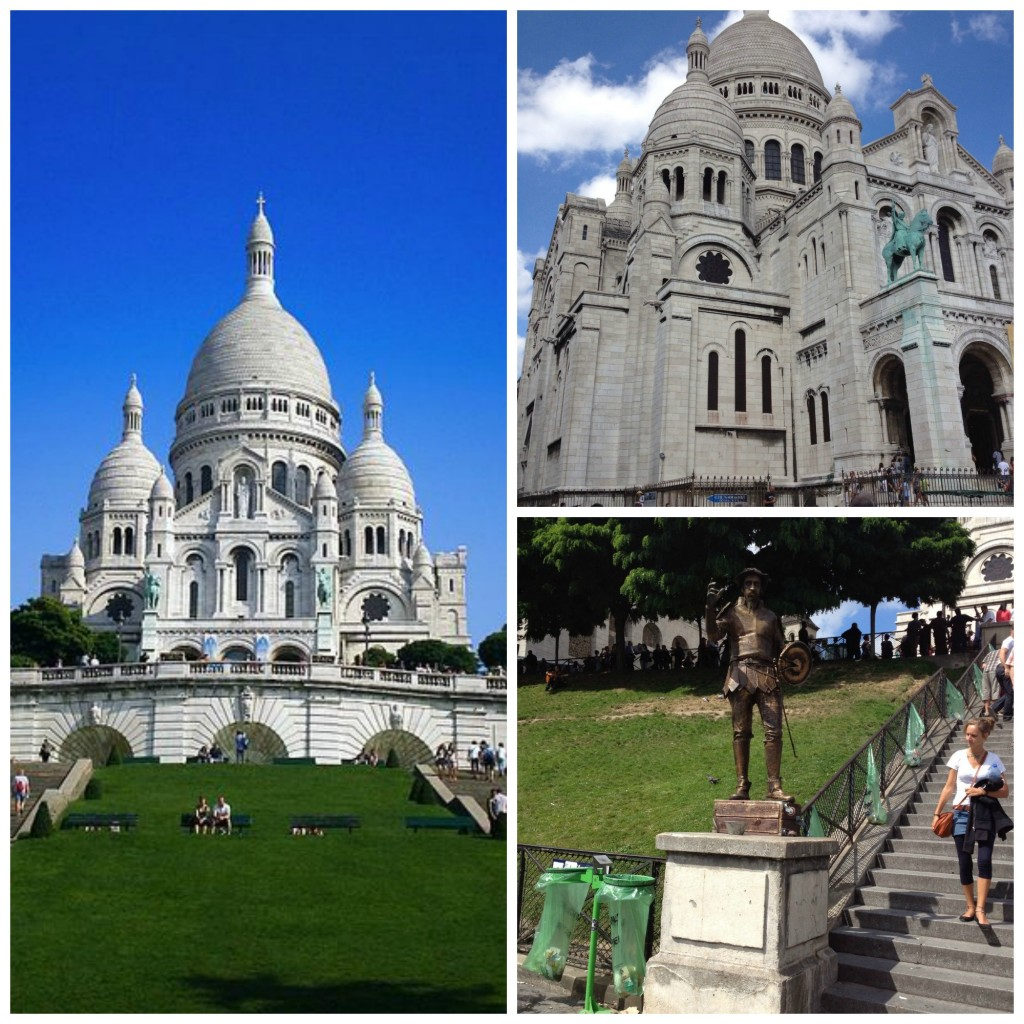 Sacré-Coeur Basilica, located at the summit of the butte Montmartre, the highest point in the city of Paris.