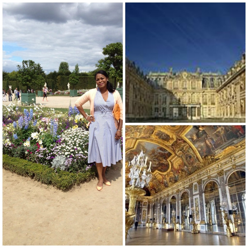 Internet photos of Versaille (massive amounts of people, could not get clear shot of front of Versaille or Hall of Mirrors)