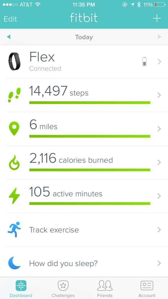 I walked 6 miles with 14, 497 steps. My goal is at least 10,000 per day as monitored by my Fitbit App.