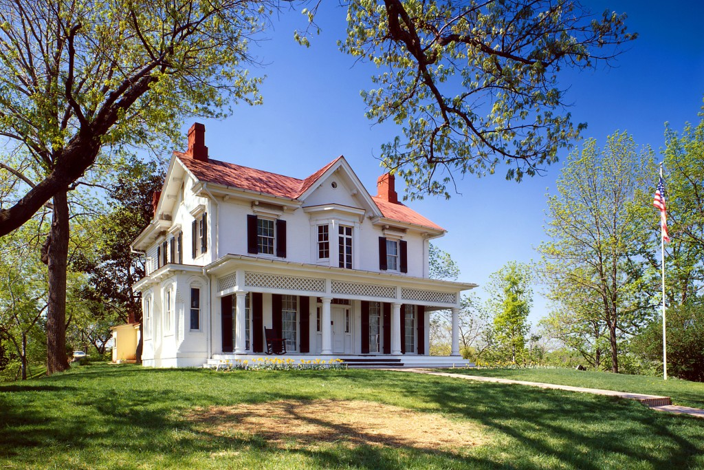 Frederick Douglass' Cedar Hill home in the Anacostia section of Washington, D. C .
