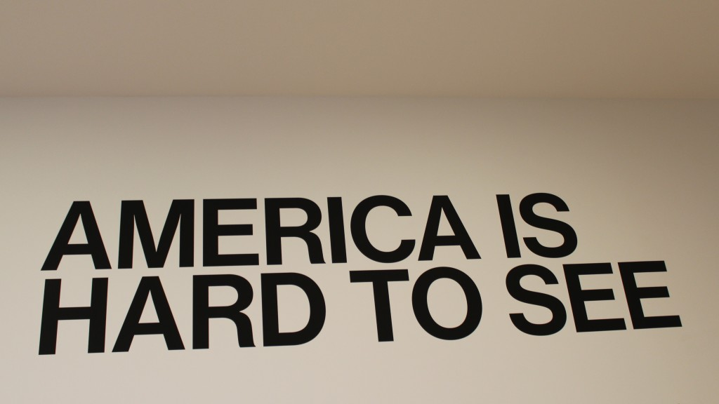 "The title, "" America Is Hard to See,"" comes from a poem by Robert Frost and a political documentary by Emile de Antonio."