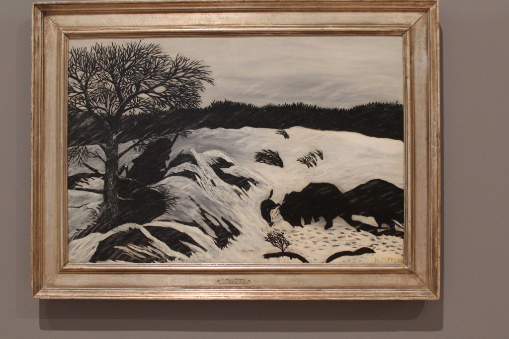 The Buffalo Hunt, 1933 by Horace Pippin (1888 - 1946) oil on canvas