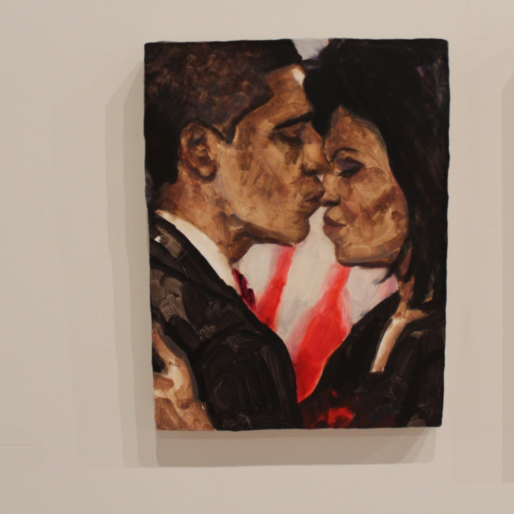 """Barack and Michelle"" by Elizabeth Peyton."