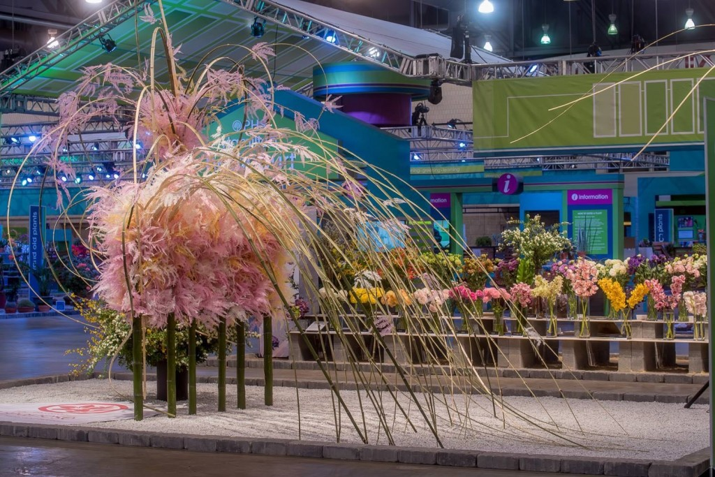 """The Breeze of Spring"" exhibit at the 2016 Philadelphia Flower Show,"