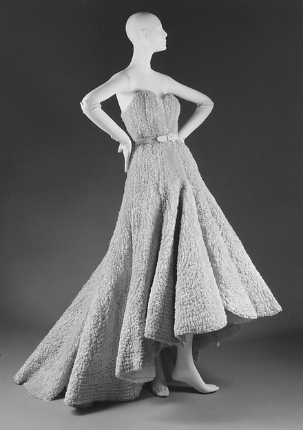 "Yes, Mr. Dior. 1950 House of Dior, ""Scarlatti"" gown. Image credit: Met Museum."