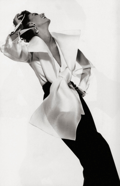 Yes, Mr. Dior. Photograph by Gian Paolo Barbieri for Gianfranco Ferre advertisement, Fall / Winter 1991. Model: Aly Dunne.