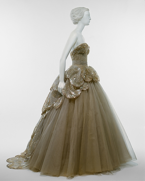 "Yes, Mr. Dior. ""Venus"" gown by Christian Dior."