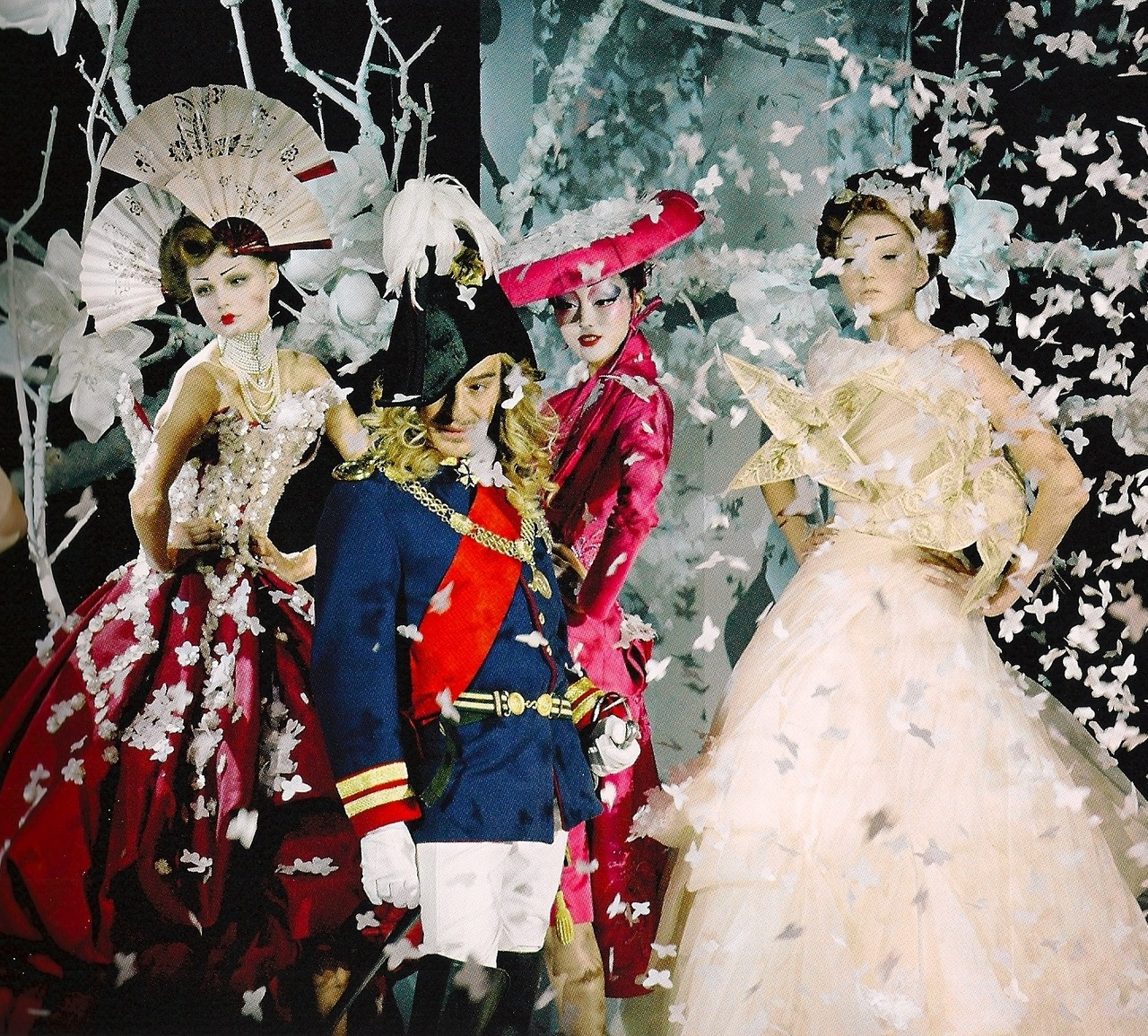 Yes, Mr. Dior. Designer John Galliano for DIor Spring 2007 in over-the-top ensemble display.