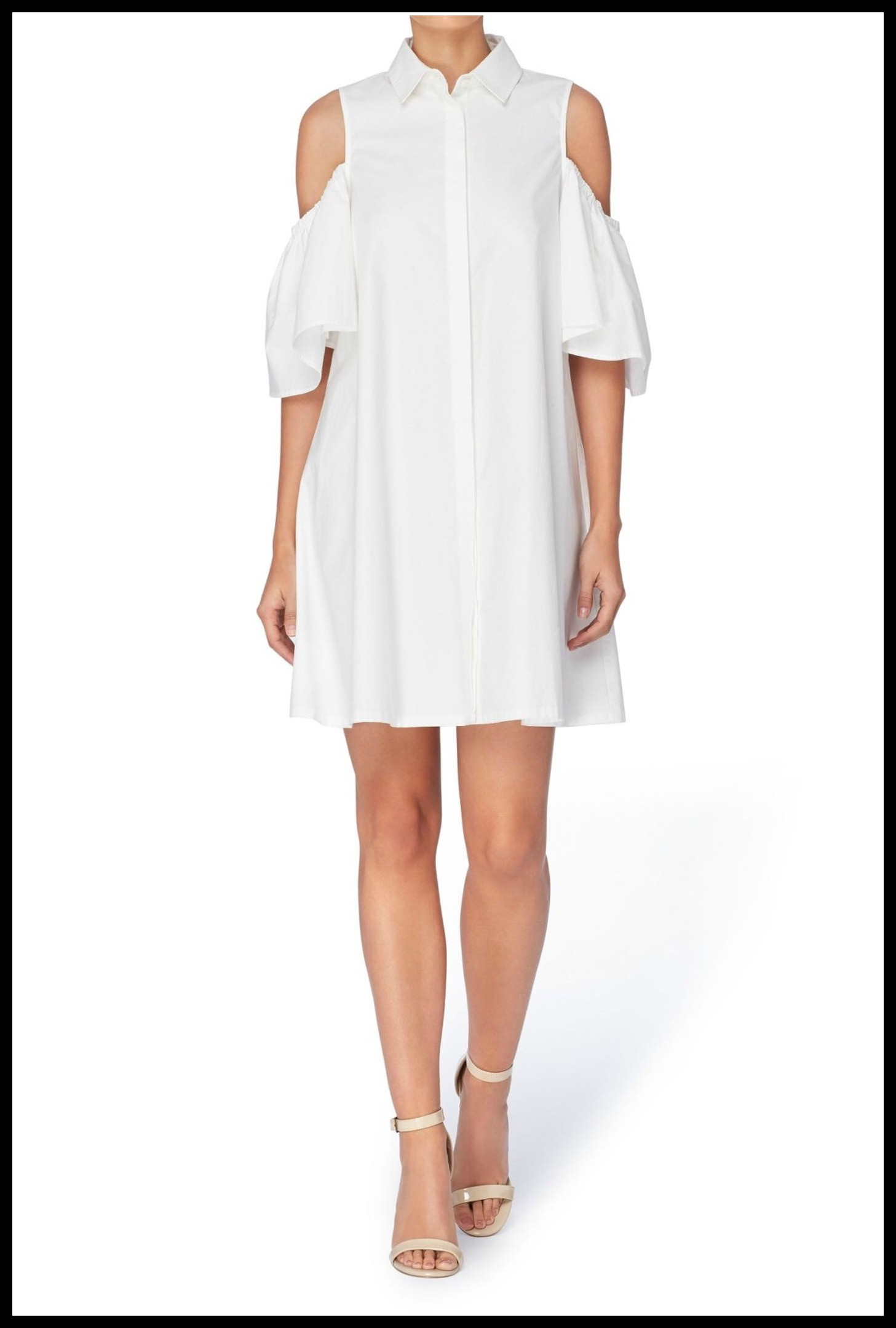 Cold Shoulder Shirtdress