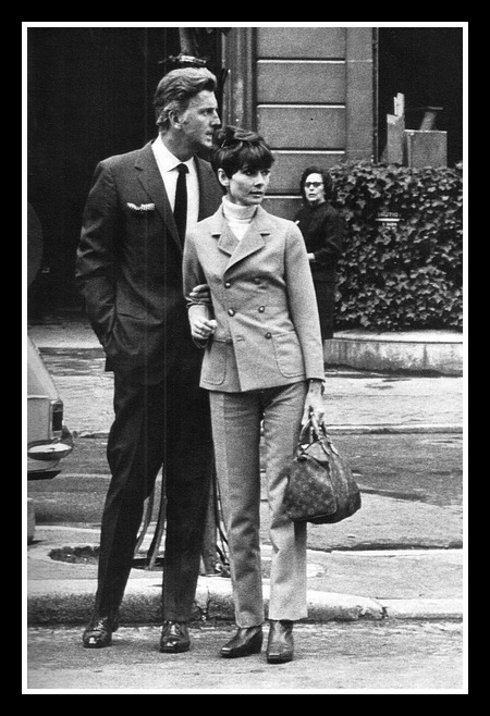 Audrey Hepburn with Hubert de Hubert in 1967